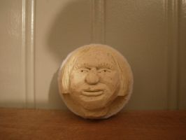 Female Face Carved in Golfball by Des804