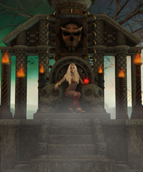 The Sorceress Temple by ClvArt