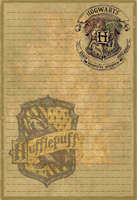 Hufflepuff Stationery Option1 by Sinome-Rae