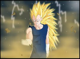 SSJ3 Majin Vegeta - Remake by cb024