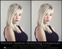 Portrait medium retouching comparison by MrHighsky