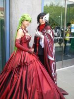 Fanime'11: Lelouch and CC by theEmperorofShadows