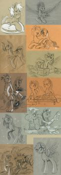 Pony Sketch Challenge. part 2 by Maytee