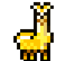 BIG Golden Llama by Pikuniku