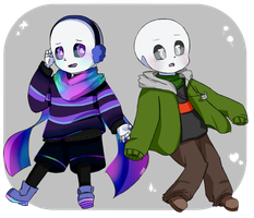 ~-Aurore and Jelly! sans-~ by Lysame