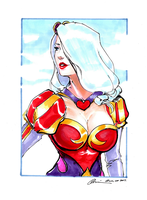 Heartseeker Ashe Copic Marker Sketch by G21MM