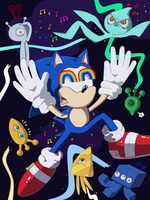 sonic ON colours by SteamGun