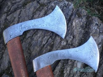 damascus axes by hellize