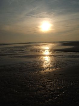The sun sets at Camber Sands by Annelisa-Views