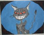cheshire cat painting finished by foxy21a72