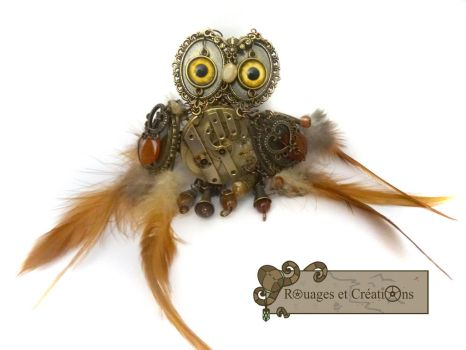 Hansel, steampunk owl by Rouages-et-Creations