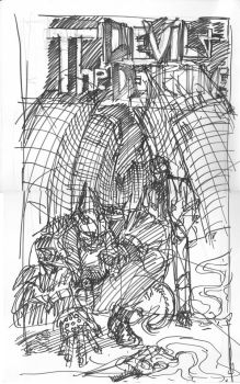 The Devil and The Detective #1 Cover Sketch by JJ422