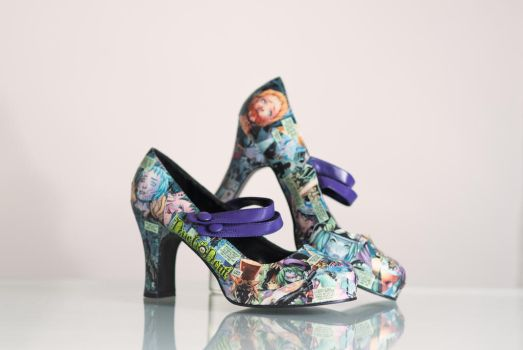 Duela Dent Comic Heels: For Sale by CreativelyRash