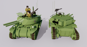 Twin 106mm Recoilless Rifle Carrier, Model 12 by TheoComm