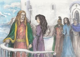 Eomer and Lothiriel in Dol Amroth by AnotherStranger-Me