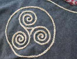 Viking Embroidery Close Up by VendelRus