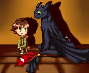 Hiccup-ThexDarkenedXLight by Kyrrachan