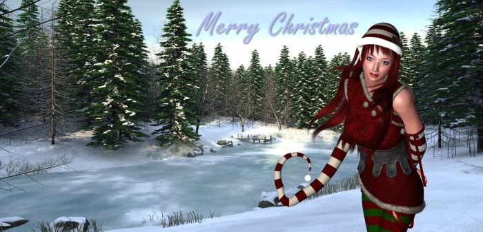 Merry Christmas greeting by jules2626
