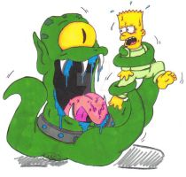 Bart Simpson: Space Alien Vore by KnightRayjack