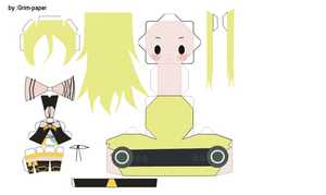 lily vocaloid papercraft by Grim-paper