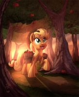 Applejack's Orchard by vest