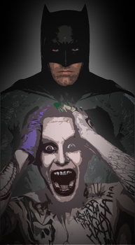 Batman and Joker by natestarke