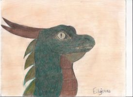 Dragon head by eilujenna