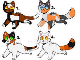 Calico Cat Adopts -OPEN (2/4) by skyphi