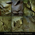 6 Peeling Grunge Paper Texture by deadcalm-stock