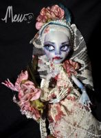Ooak Monster high Ghoulia Yelps Wedding Day doll by MEWstudio