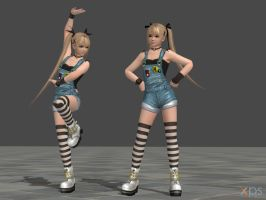 DOA5 Marie Rose Costume 12 Overalls by rolance