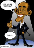 Obama and health by MasterLudus