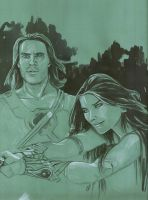 John Carter and Dejah Thoris by GermanAdriazola