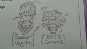 Super Saiyans on mah sheet by DemonDamon97