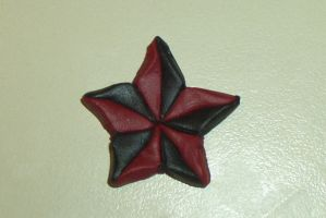 black and red Star Pendant by Lisa99