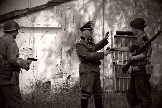Nazi officer surrender by Damyvr