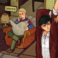 Johnlock in the morning by CameliaPham