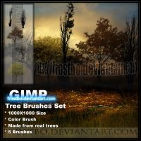 Tree Brush Color SET 1 GIMP by FrostBo