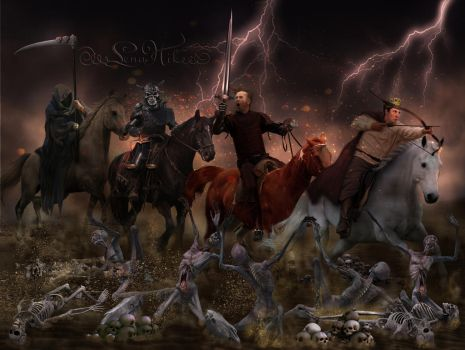 The Four Horsemen of the Apocalypse by LenaNik