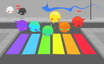 rainbow crosswalks by drwarumono