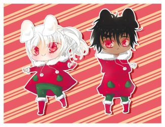 GetsuKoko Christmas Chibis by Kawaii-Dream