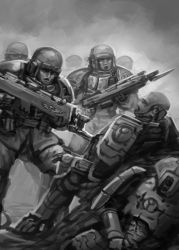 Sketch - Bayonet Charge by ruoyuart