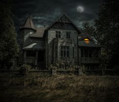 The Haunted House.. by AledJonesDigitalArt