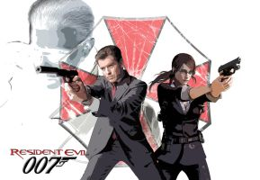 Resi Evil 007 - Claire and Bond Side-by-side by Big-Al-Son86