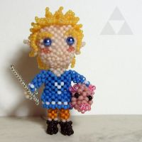 Bead doll: Link (Outset outfit, The Wind Waker) by crafty-maika