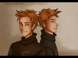 Weasley twins by 7Lisa