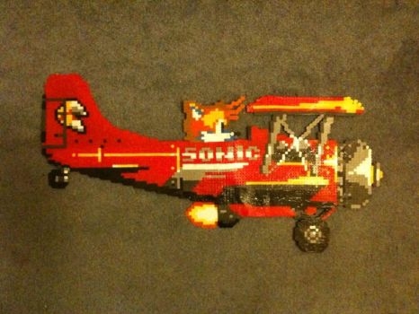 Tails Biplane Bead Sprite by nayrb00