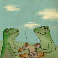 Frog high tea by ilkevandeventer
