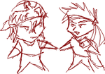 Mich and Wal MSN doodlz by Aisuryuu