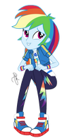 MLP EG Vector-Rainbow Dash sitting (without bench) by ilaria122
